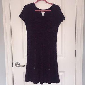 Style & Co Sweater Dress - Dark Purple - Large